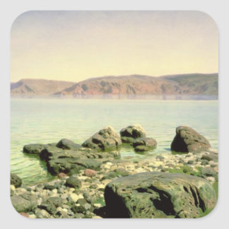 At the Sea of Galilee, 1888 Square Sticker