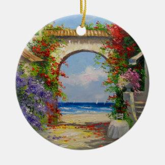 At the sea shore ceramic ornament