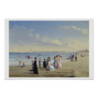 At the Seaside, 1878 (oil on panel) Poster