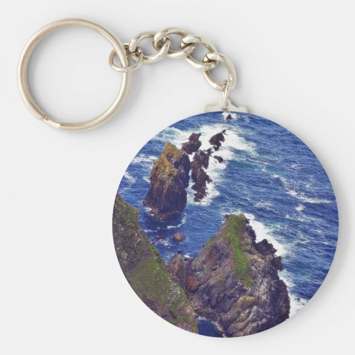 At The Slieve League Cliffs In Ireland 3 Keychains