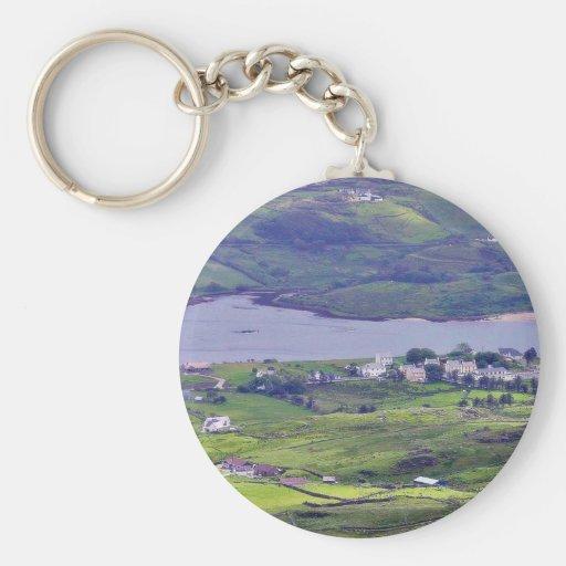 At The Slieve League Cliffs In Ireland 5 Keychain