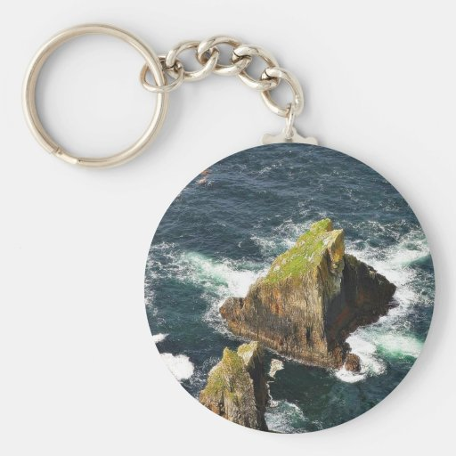 At The Slieve League Cliffs In Ireland Key Chains