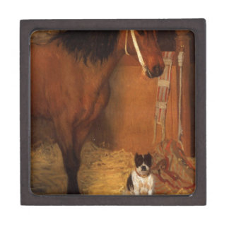 At the Stables, Horse and Dog by Edgar Degas Gift Box