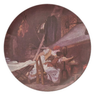 At the stove by Jean-Honore Fragonard Dinner Plates