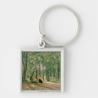 At the Summer Cottage, 1894 Keychain