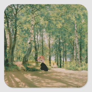 At the Summer Cottage, 1894 Square Sticker