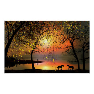 At the sunset poster