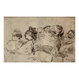 At the Theater by Edouard Manet Poster