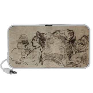 At the Theater by Edouard Manet iPod Speaker