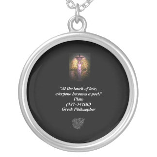 """At the touch of love Round Pendant Necklace"