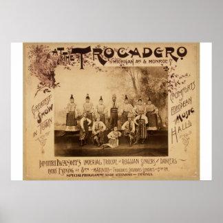 At the Trocadero, 'Michigan Ave & Monroe' Vintage Poster