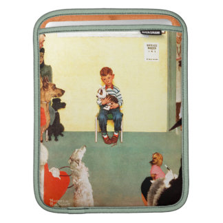 At The Vets by Norman Rockwell Sleeves For iPads