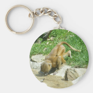 At the Watering Hole: Baby Baboon Key Chain