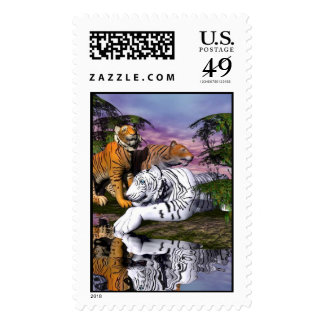 At The Watering Hole Postage Stamp