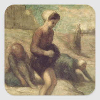 At the Water's Edge, c.1849-53 Square Sticker