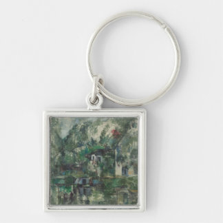 At the Water's Edge, c. 1890 (oil on can Keychain