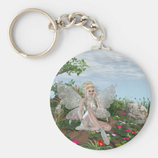 At the Waters Edge - Fairy & Flowers by the Water Keychain