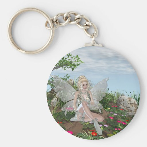 At the Waters Edge - Fairy & Flowers by the Water Key Chains