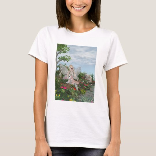 At the Waters Edge - Fairy & Flowers by the Water T-Shirt