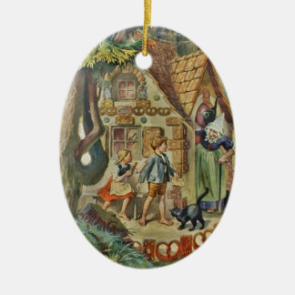 At the Witch's Cottage Ceramic Ornament