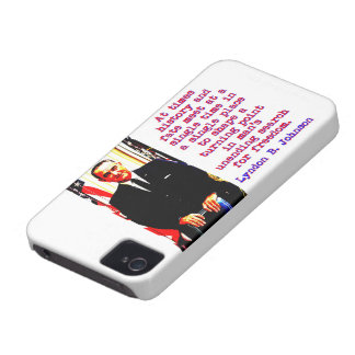 At Times History And Fate - Lyndon Johnson iPhone 4 Case