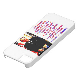 At Times History And Fate - Lyndon Johnson iPhone SE/5/5s Case