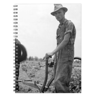 At Work in the Cotton Spiral Notebook