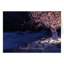 blue christmas, holiday, christmas tree, Card with custom graphic design