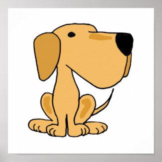 AT- Yellow Labrador Retriever Poster