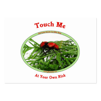 At Your Own Risk Cow Killer Wasp Business Card Template