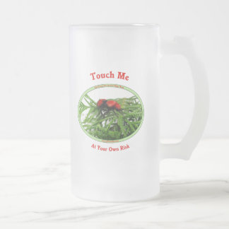 At Your Own Risk Cow Killer Wasp Frosted Glass Beer Mug