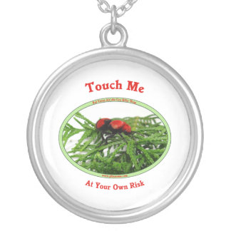 At Your Own Risk Cow Killer Wasp Silver Plated Necklace