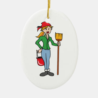 AT YOUR SERVICE CERAMIC ORNAMENT