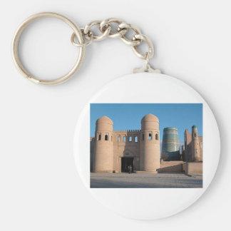 Ata Darvaza Gate Basic Round Button Keychain