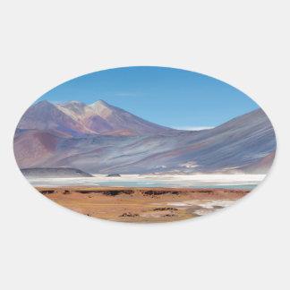 Atacama salt lake oval sticker