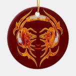 Atado con alambre para arriba para la música adorno de navidad