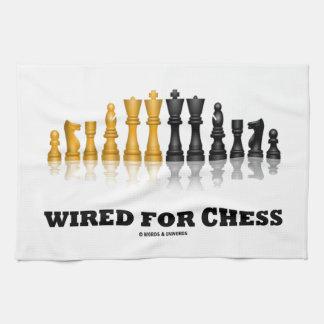 Atado con alambre para el ajedrez juego de ajedre toallas
