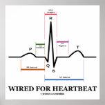 Atado con alambre para el electrocardiograma del l posters