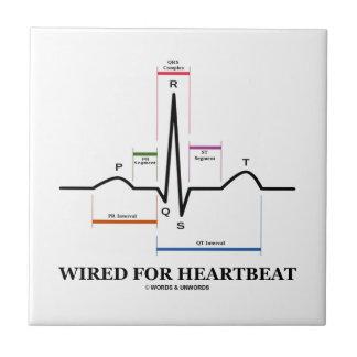 Atado con alambre para el latido del corazón azulejo cuadrado pequeño
