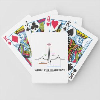 Atado con alambre para el latido del corazón baraja de cartas