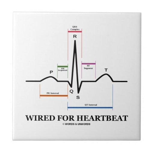 Atado con alambre para el latido del corazón (elec tejas  ceramicas