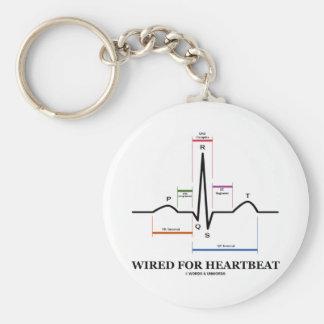Atado con alambre para el latido del corazón llavero redondo tipo pin