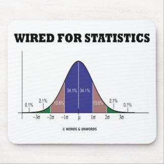 Atado con alambre para las estadísticas actitud d alfombrilla de ratones