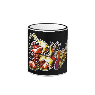 """""""Atado con alambre!"""" Taza de café"""