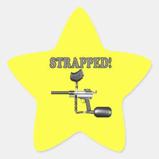 Atado con correa pegatina en forma de estrella