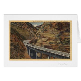 Atajo de la ruta de Ridge, yendo a Bakersfield Tarjeta De Felicitación