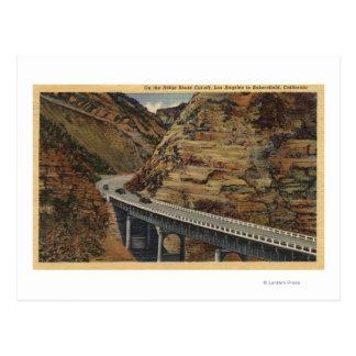 Atajo de la ruta de Ridge, yendo a Bakersfield Tarjetas Postales
