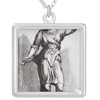 Atalanta, c.1653 silver plated necklace