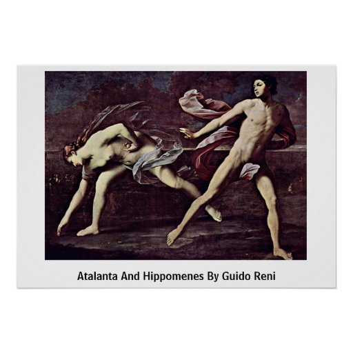 Atalanta e Hippomenes de Guido Reni Póster