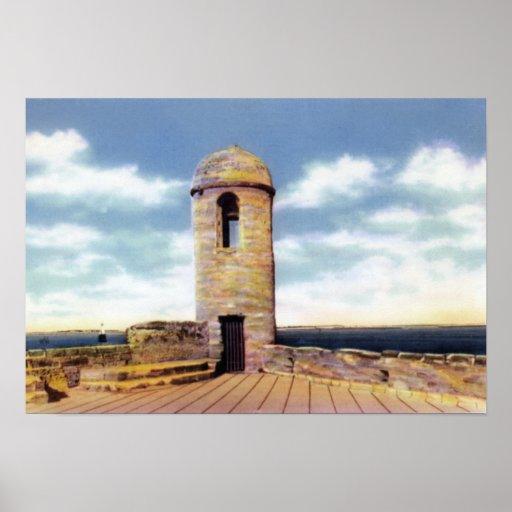 Atalaya de St Augustine la Florida Póster
